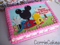 clubhouse cake - by Corrie @ CakesDecor.com - cake decorating website