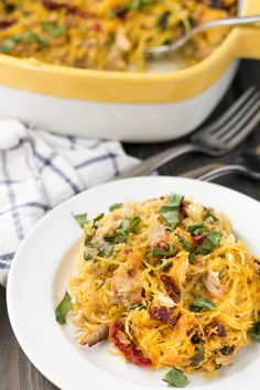 Whole30 Tuscan Chicken Spaghetti Squash Paleo & Whole30. Only six ingredients for this Tuscan chicken spaghetti squash bake