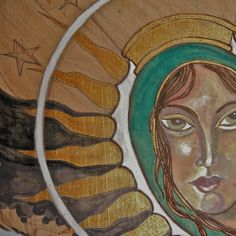 Art by Ramiro Ordonez Acrylic Painting on wood  Title: Guadalupe