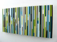 Modern Wood Sculpture Wall Art Upcycled, $525.00