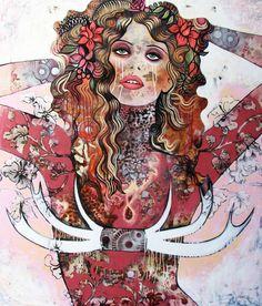 Sarah Hickey  Brisbane, Australia..She Who Wears the Horns