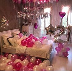 Surprise Birthday Decorations In Your Bedroom Birthday Room Surprise, Birthday Goals, 18th Birthday Party, Birthday Party For Teens, Birthday Gifts For Best Friend, Hotel Birthday Parties, Birthday Ideas, Happy Birthday, Birthday Room Decorations
