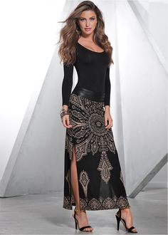 Off the shoulder fit with luxe metallic details make our lurex ...