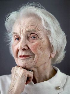 The Serenity of the Gracefully Aged   (from Happy at 100, a book of portraits of centenarians by German photographer Karsten Thormaehlen)