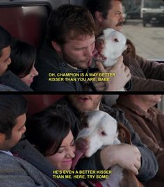 Andy, April, and Champion (Parks and Recreation)