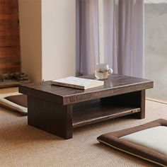 Asian Antique Furniture Japanese Floor Tea Table Rectangle Size 80*40cm Living…