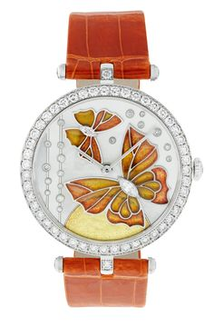 Lady Arpels Papillon Orange Solaire http://www.orologi.com/cataloghi-orologi/van-cleef-arpels-cadrans-extraordinaires-lady-arpels-papillon-orange-solaire-nd