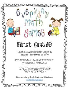 Everyday Math First Grade Game Pack (32 games in all)