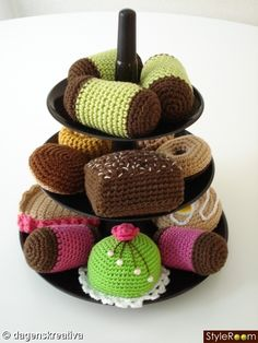 Crochet petit four - Great idea, gonna do this!