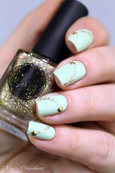 mint-green-nails-with-design-11
