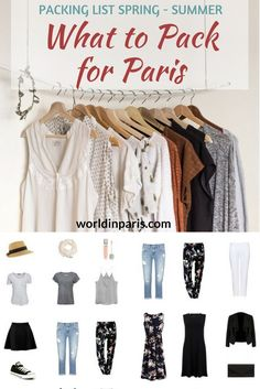 Paris Packing List, What to Take for Paris, What to Wear in Paris in the Summer, What to Wear in Paris in the Spring, Shoes to Wear in Paris, Packing for Paris, Paris Travel Essentials #parispackinglist #parisoutfits #parislikealocal #paris