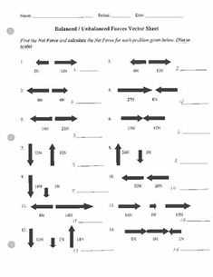 Forces Motion Worksheet | Worksheets, Teaching science and ...