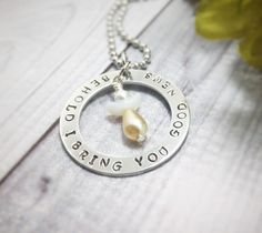 A personal favorite from my Etsy shop https://www.etsy.com/listing/485012807/washer-pendant-hand-stamped-jewelry