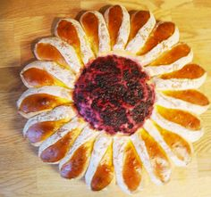 Sunflower Shaped Sweet Bread
