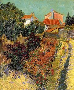 Garden Behind a House Vincent van Gogh - 1888