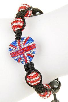 British Heart Shaped England Flag Adjustable Bracelet | The Shopping Bag