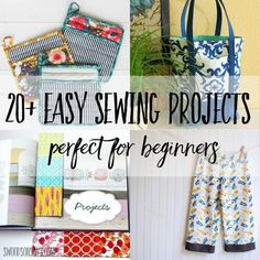 20+ Easy Sewing Projects Perfect for Beginners via Swoodson Says | A big list of beginner sewing projects that are fun and easy to make! Simple sewing tutorials with pictures to help along the way, there is a beginner sewing project for everyone on this list!