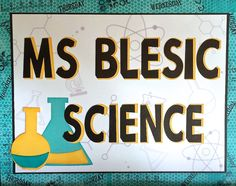 ScrappyHorses  Sign for science classroom using import of CTMH stamps into Cricut Design Space!  ScrappyHorses.ctmh.com