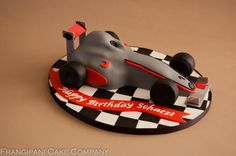 This Formula 1 racing car cake is just the thing for a F1 lovers birthday.