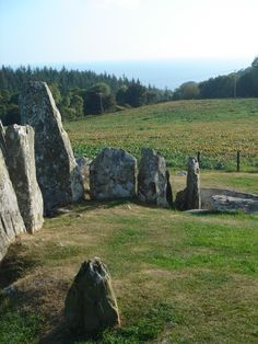 Cairnholy (or Cairn Holy) is the site of two Neolithic chambered tombs near Gatehouse of Fleet, just off the A75 overlooking Wigtown Bay.