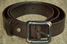 Dark Brown Leather Belt Mens Leather Belt Strap Cowhide Belt Distressed by SherryJewelry, $27.00