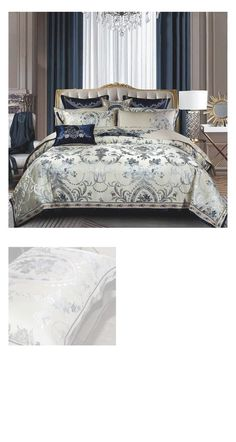 Here we have the most beautiful Luxury Royal Jacquard Satin Silk Bedding Set that is specially made with High Thread Count fabric. This bedding set with beautiful design patterns on the Duvet Cover and Pillowcases will transform your bed into a beautiful decor piece right in the center of your bedroom decor. Speically available in Queen and King Size with 10 Pieces Set for FREE Worldwide Shipping. #luxury #royal #satin #silk #bedding #beddingset #luxurybedding #silkbedding