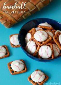Baseball Pretzel Bites