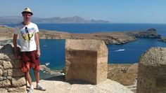 View from the Acropolis, Lindos