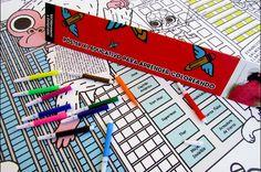 Póster XL educativo de Heroínas y Superhéroes. Disfruta coloreando a tus superhéroes favoritos.