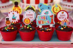 Kara's Party Ideas Circus Carnival Themed Boy Girl 1st Birthday Party Planning Ideas