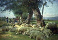 Bruzzi Stefano, Siesta o pecore al riposo (Galleria d'Arte Moderna Ricci Oddi, Piacenza)