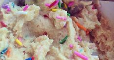 Protein Cake Batter Dough!   -1 scoop MRM natural vanilla whey (Use code SIA at checkout for 40% off all products!)  -2 tbsp coconut flour...