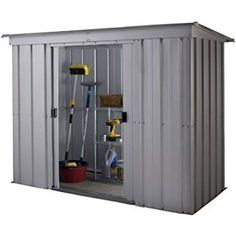 Large Outdoor Storage Shed Metal Backyard Lawn Tools Mower Bikes Container Cabin - All For Garden Outdoor Storage Sheds, Shed Storage, Tall Cabinet Storage, Locker Storage, Triple Wheelie Bin Storage, Roof Shapes, Bicycle Storage, Scooter Storage, Garden Power Tools