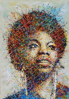 """Saatchi Art Artist: Antonio Montanaro; Acrylic Painting """"NINA SIMONE"""""""