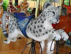carousel animals - Snow or Clouded Leopard