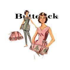 1960s+Cross+Stitch+Apron+Pattern+Butterick+9982+by+CynicalGirl,+$16.00
