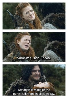 GOT Jon Snow Ygritte Love. Why does everything i love die? !
