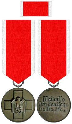 Medaille der deutschen Volkspflege 1939 Germany, Military, Military Art, Merit Badge, Deutsch