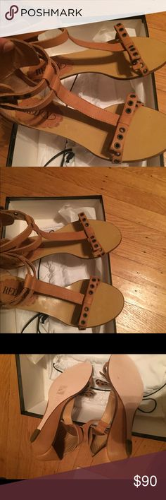 Cute and girlie flats unworn Bow top and double ankle straps RED Valentino Shoes Sandals