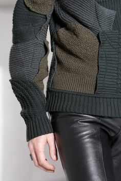 Winter knit & leather jeans