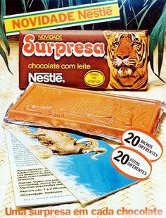 ...ter colecionado os encartes do Chocolate Surpresa