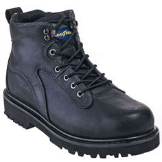 Goodyear Boots: Men's GY6204 Black EH Leather Darlinton Work Boots,    #Boots,    #GY6204,    #GoodyearFootwear