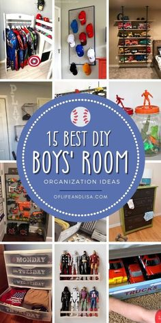 Be inspired to organize the boys' room with these with brilliant bedroom organization ideas. You will love the creative ways to store their toys and games. Get the boys' room super organized with these creative DIY ideas. #boysroom #organization #organized #toyorganization #playroom #homedecor #boymom #boysbedroom #boysbedroomdecor Home Organization Hacks, Organizing Your Home, Bedroom Organization, Organising Tips, Organizing Ideas, Tv Wall Design, Boys Bedroom Decor, Bedroom Ideas, Minimalist Bedroom