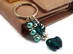 Key Ring Key Fob Key Chain Beaded Keyring by Michelleshandcrafted, £8.00