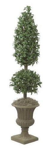Autograph Foliages W-2450 - 6 Foot Laurel Cone-Ball Topiary - Green >>> Want additional info? Click on the image.