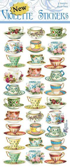 Violette Stickers P54- Mini Teacups