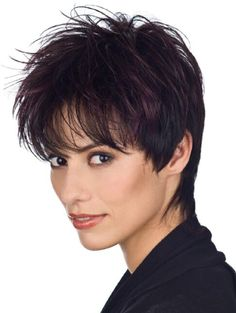 Top Auburn Straight Cropped Synthetic Wigs CSAD00168