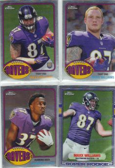 2015 topps chrome #Football ravens lot x4  1989 1976  t60 super rookie  from $2.25