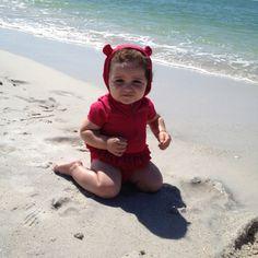 My baby Rachel on the beach..)