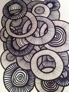 D´jo hanne: Gang i tusserne Element of Art: Line Principle of Art: Pattern Explain Overlapping Zantangle Art, Op Art, Zentangle Patterns, Zentangles, Principles Of Art, Illustration, Art Lesson Plans, Art Classroom, Art Plastique